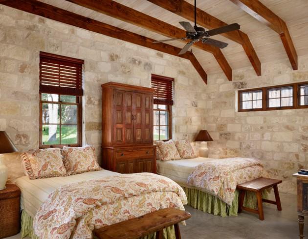 Nhấn nhá phòng ngủ độc đáo với tường gạch đẹp