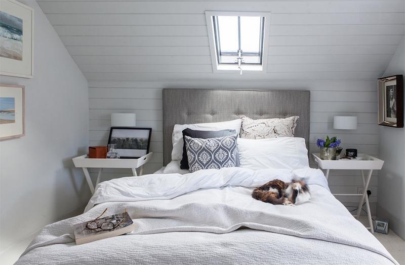 Biến gác xép thành phòng ngủ trang nhã